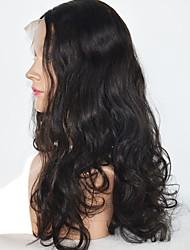 cheap -Human Hair Lace Front Wig Body Wave Wavy Wig 130% Natural Long Human Hair Lace Wig
