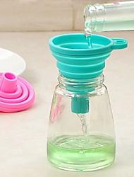 baratos -Utensílios de cozinha Silicone Fácil de transportar / Gadget de Cozinha Criativa funil Uso Diário 1pç
