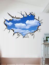 Недорогие -Декоративные наклейки на стены - 3D наклейки Пейзаж 3D Гостиная Спальня Ванная комната Кухня Столовая Кабинет / Офис