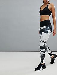 cheap -Women's Daily Basic Sporty Legging - Color Block Mid Waist