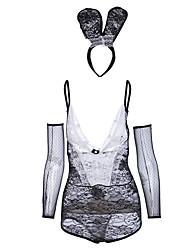 Недорогие -Жен. Костюм / Форма / чонсам Ночное белье - С Х-образными бретелями, Контрастных цветов