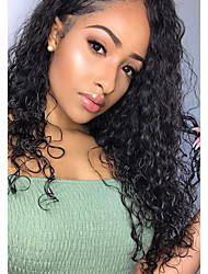 cheap -Virgin Human Hair Lace Front Wig Wig Brazilian Hair Curly 130% Density With Baby Hair Natural Women's Long Human Hair Lace Wig