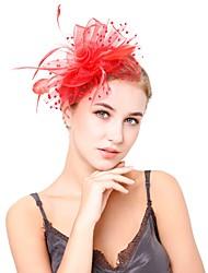 abordables -Mujer Flor / Malla Fascinador - Vintage / Elegant Un Color