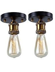baratos -2 pcs sotão do vintage mini metal lâmpada do teto da sala da sala de jantar cozinha sala de jantar