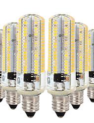 Недорогие -YWXLIGHT® 6шт 7W 600-700lm E11 Двухштырьковые LED лампы T 152 Светодиодные бусины SMD 3014 Диммируемая Тёплый белый / Холодный белый