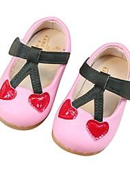 Недорогие -Девочки Обувь Синтетика Осень Обувь для малышей Сандалии На липучках для Дети на открытом воздухе Бежевый / Розовый