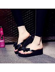 cheap -Women's Shoes EVA Summer Comfort Slippers & Flip-Flops Creepers Black / Fuchsia / Pink