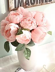baratos -Flores artificiais 6 Ramo Casamento / buquês de Noiva Rosas / Peônias / Flores eternas Flor de Mesa
