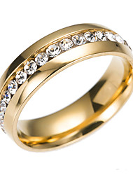 cheap -Cubic Zirconia Band Ring - Classic, Fashion 6 / 7 / 8 Gold / Silver For Engagement / Gift / Daily