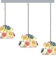 billiga -3-Light Klunga Hängande lampor Fluorescerande Elektropläterad Glas Glas Kreativ, Vackert 110-120V / 220-240V Glödlampa inte inkluderad / VDE / E26 / E27