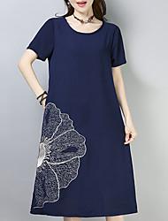 cheap -Women's Shift Dress - Floral Low Waist