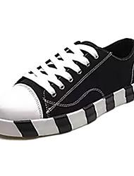 povoljno -Muškarci Cipele Platno Proljeće & Jesen Udobne cipele Sneakers Crn / Bež / Sive boje