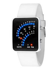 Недорогие -Жен. Цифровой электронные часы Китайский Календарь / Секундомер / Повседневные часы / Светящийся силиконовый Группа Elegant / Мода Черный