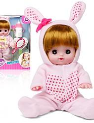 Недорогие -Интерактивная кукла Девочки 12 дюймовый Силикон - как живой Экологичные Подарок Очаровательный Безопасно для детей Non Toxic Детские Девочки Игрушки Подарок