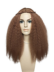 cheap -Synthetic Wig Wavy Layered Haircut Synthetic Hair Heat Resistant / Women / Synthetic Brown Wig Women's Long Capless / Natural Hairline