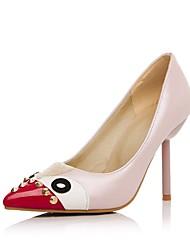 abordables -Femme Chaussures Polyuréthane Printemps été Escarpin Basique Chaussures à Talons Marche Talon Aiguille Bout pointu Rivet Bleu / Rose