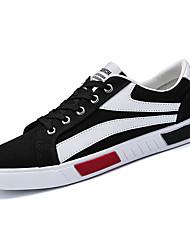 preiswerte -Herrn Schuhe PU / Stoff Sommer Komfort Sneakers Weiß / Schwarz / Rot