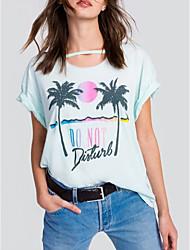 billige -Dame - Blomstret Blondér Basale T-shirt