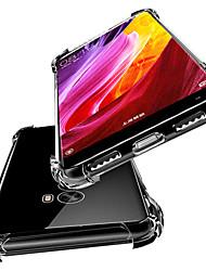 Недорогие -Кейс для Назначение Xiaomi Xiaomi Mi Mix 2S / Mi 6X Защита от удара / Полупрозрачный Кейс на заднюю панель Однотонный Мягкий ТПУ для
