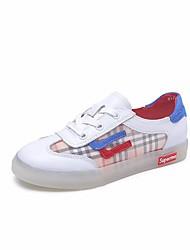 povoljno -Žene Cipele Mekana koža Proljeće ljeto Udobne cipele Sneakers Ravna potpetica Peep Toe Obala / Bež / Prugasti uzorak