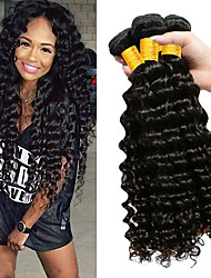 cheap -Malaysian Hair Wavy One Pack Solution 3 Bundles 8-28 inch Human Hair Weaves Machine Made Best Quality / Hot Sale / Wedding Natural Black Human Hair Extensions Women's