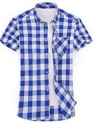 お買い得  -男性用 シャツ ベーシック / ストリートファッション カラーブロック / チェック