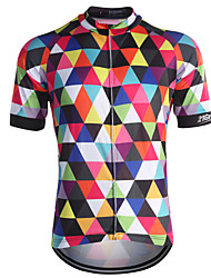 cheap -21Grams Men's Short Sleeve Cycling Jersey - Rainbow Bike Jersey, Quick Dry, Breathable, Sweat-wicking Coolmax® / Stretchy