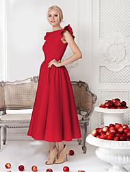 Недорогие -Жен. Классический А-силуэт Платье Средней длины