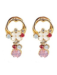 cheap -Women's Long Stud Earrings / Drop Earrings - Rhinestone Flower Korean, Sweet, Colorful Rainbow For Formal / Going out