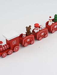 Недорогие -Рождественский декор Новогодние подарки Рождественские игрушки Поезд Праздник Шлейф Для детской Снеговик деревянный Детские Взрослые Мальчики Девочки Игрушки Подарок 1 pcs