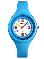 abordables -SKMEI Mujer Reloj de Pulsera Japonés Resistente al Agua / Nuevo diseño / Reloj Casual PU Banda Moda / Minimalista Negro / Blanco / Rojo / Un año