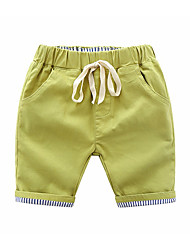 cheap -Kids Boys' Basic Solid Colored Lace up Cotton Shorts