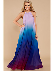 cheap -Women's Going out A Line Dress Maxi Halter Neck