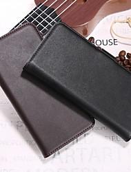 Недорогие -Кейс для Назначение Huawei Honor 10 / Honor 7A Кошелек / Бумажник для карт / со стендом Чехол Однотонный Твердый Настоящая кожа для Huawei Honor 10 / Honor 9 / Huawei Honor 9 Lite