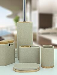 Недорогие -Набор аксессуаров для ванной Новый дизайн / Многофункциональный Современный Резина 5 шт. - Ванная комната Односпальный комплект (Ш 150 x