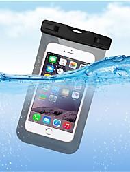 baratos -Capinha Para Apple iPhone X / iPhone 8 Plus Impermeável Bolsa Sólido Macia TPU para iPhone X / iPhone 8 Plus / iPhone 8