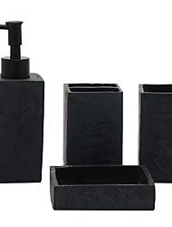 baratos -Jogo de Acessórios para Banheiro Novo Design Moderna 4pçs - Banheiro Solteiro (L150 cm x C200 cm)