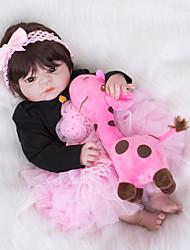 Недорогие -FeelWind Куклы реборн Девочки 22 дюймовый Полный силикон для тела Винил - как живой Детские Девочки Игрушки Подарок