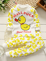 cheap -Baby Boys' Solid Colored / Print Long Sleeve Clothing Set