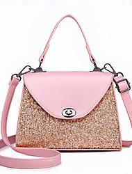 cheap -Women's Bags PU(Polyurethane) Tote Sequin Black / Blushing Pink / Gray