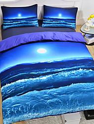 baratos -Conjuntos de capa de edredão 3d polyster reativa impressão 3 peça conjuntos de cama / 3 pcs (1 capa de edredão, 2 shams) rainha
