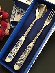 abordables -Vaisselle 1set Résistant à la chaleur Acier inoxydable Petite cuillère / baguettes 27*3 cm