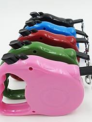 baratos -Cachorros / Gatos Trelas Prova-de-Água / Portátil / ajustável flexível Sólido Plástico Rosa claro