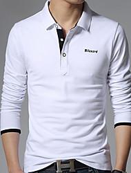 お買い得  -男性用 Tシャツ 活発的 / ベーシック ソリッド