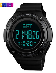 cheap -SKMEI Men's Sport Watch / Digital Watch Chinese Calendar / date / day / Water Resistant / Water Proof / Noctilucent Silicone Band Casual / Fashion Black