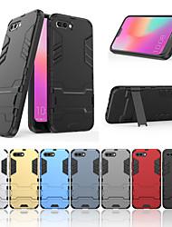 abordables -Funda Para Huawei Honor 10 con Soporte Funda Trasera Un Color Dura ordenador personal para Huawei Honor 10