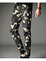 baratos -Homens Moda de Rua / Militar Calças Esportivas Calças - Sólido / camuflagem