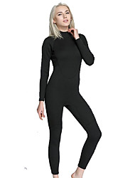 cheap -Women's Full Wetsuit 2mm Diving Suit Anatomic Design Long Sleeve Back Zip - Diving / Surfing Solid Colored All Seasons