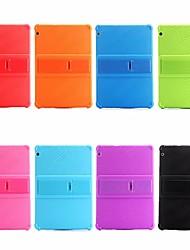 billiga -fodral Till Huawei MediaPad MediaPad T3 10(AGS-W09, AGS-L09, AGS-L03) Stötsäker / med stativ Skal Enfärgad Mjukt Silikon för Huawei MediaPad T3 10(AGS-W09, AGS-L09, AGS-L03)