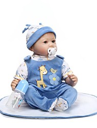 cheap -NPKCOLLECTION Reborn Doll Baby 24 inch Silicone - lifelike, Artificial Implantation Blue Eyes Kid's Unisex Gift